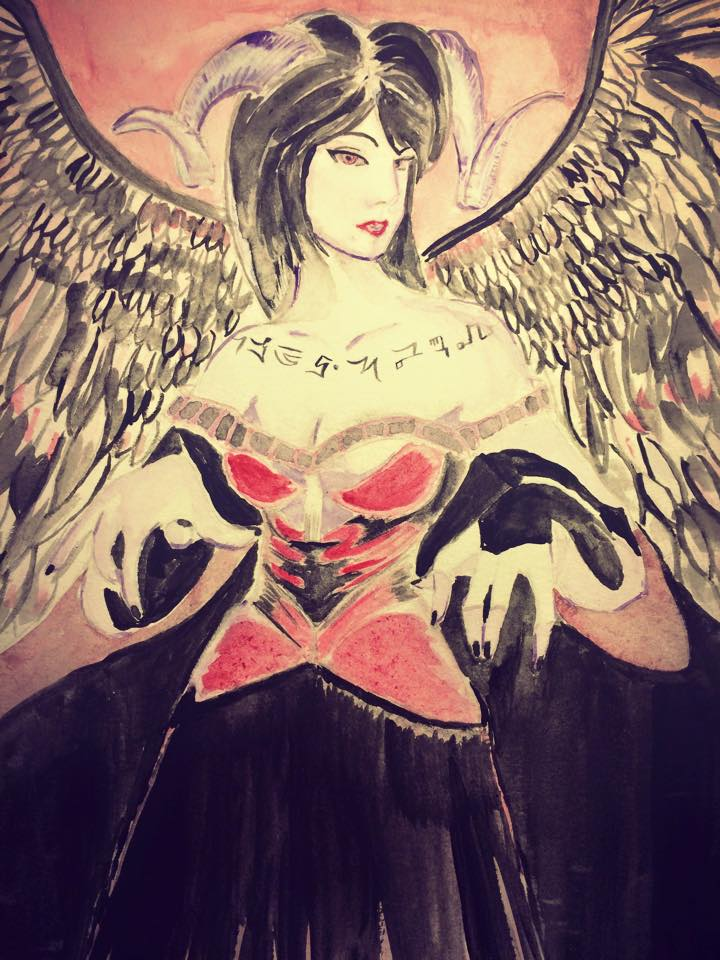 Lilith in Watercolor